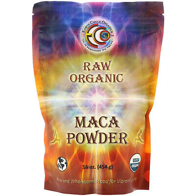 Raw Organic Maca Powder, 16 oz (454 g) - Earth Circle Organics