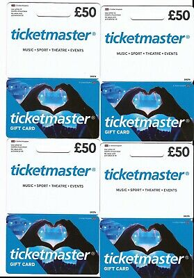Ticketmaster Gift Cards £200 valid to 19 March 2021