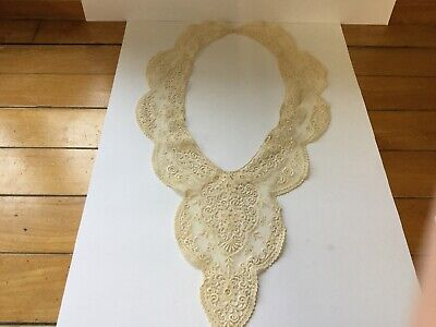 VINTAGE COLLAR - CREAM LACE Fabric Unknown Not Cotton Or Linen