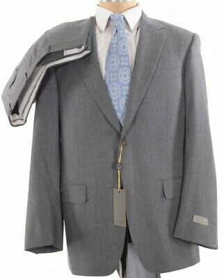 Canali NWT Suit Size 44R In Solid Light Gray Light Flannel Wool $1,995