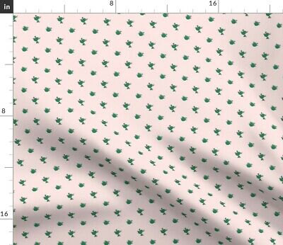 Pink Petite Frogs Baby Girl Frog Nursery Decor Fabric Printed by Spoonflower BTY