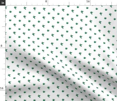 Tiny Green Frogs Small Frog Nursery Decor Fabric Printed by Spoonflower BTY