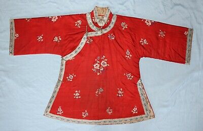 Antique Qing Dynasty Chinese Embroidered Lady's Robe