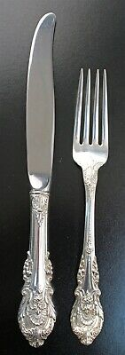 Wallace Sterling SIR CHRISTOPHER True Dinner Size Knife & Fork