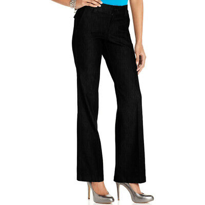 Lee Platinum Jeans Marley Trouser Straight Leg, Jet Black, 10S