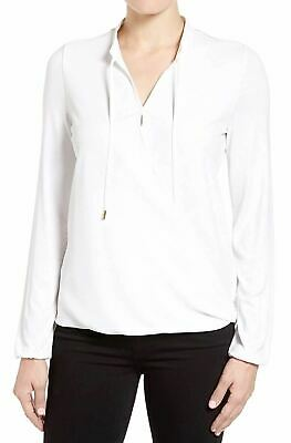 Michael Kors Petite Crossover Top White PXS