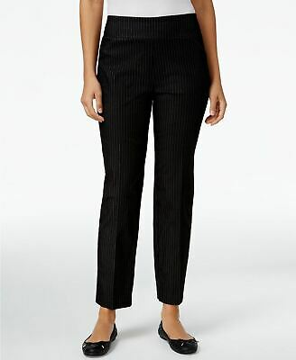 Alfred Dunner Petite Theater District Pinstr Black 8P