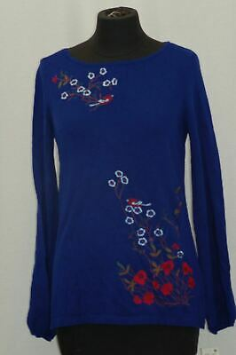 Charter Club Women's Embroidered Top Bright Sapphire M