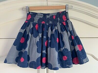 Mini Boden Girls Blue floral  Skirt  7-8 yrs