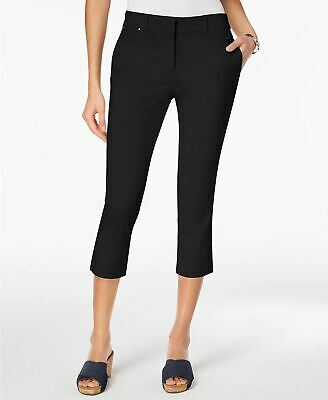 Style Co Straight-Leg Capri Pants Deep Black 6