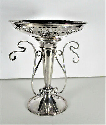 Antique Victorian English Silver Plate Epergne Removable Plate
