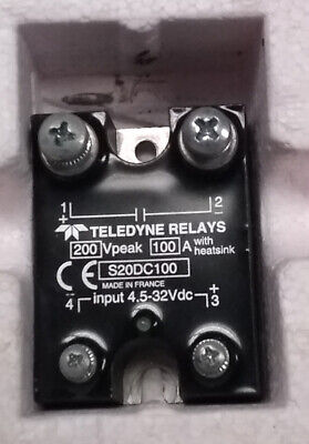 Teledyne s20dc100 relay SSR 100A 200Vdc NEW