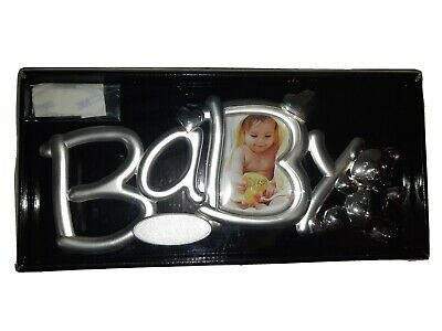 Silver Color Baby Girl or Boy Photo Picture Frame