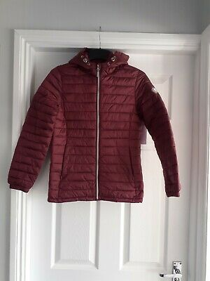 Girls Next Burgandy Coat Jacket Excellent Condition Age 12 Years