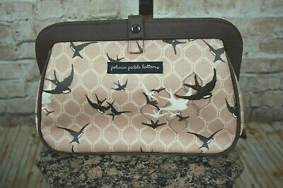 Petunia Pickle Bottom Sparrows On The Seine Cross Town Clutch Bag Euc!