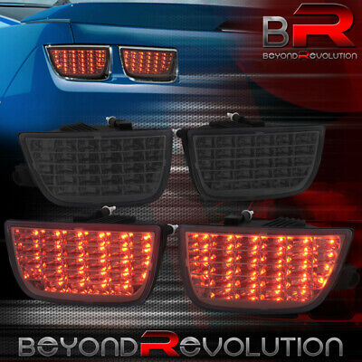 10-13 Chevy Camaro Euro 4Pc Rear Sequential Signal Led Tail Lights Black Housing