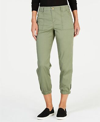 Style Co Snap-Cuff Casual Pants Olive Sprig 12
