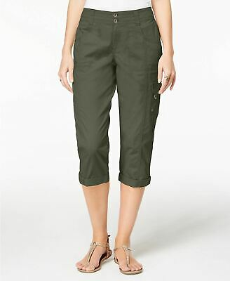 Style Co Cropped Cargo Pants Olive Sprig 8