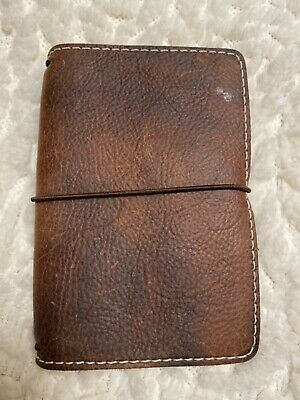 Chic Sparrow Classic Pocket Size Outlander Leather SojournTan Travelers Notebook