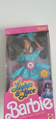 Rare MIMB Vintage New Barbie Doll #9727 from 1990 - Theresa - Lights & Lace
