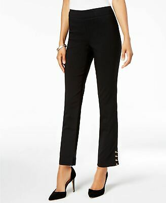 JM Collection Women's Petite Embellished Ankle Pants, Black, Petite/Small
