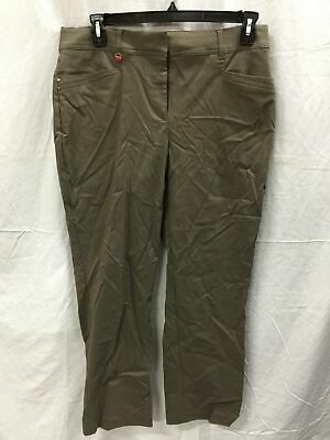 JM Collection Square Curvy Pants Brown Clay 12S