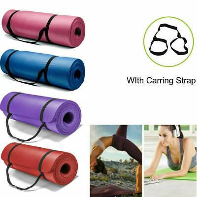 Thick Yoga Mat Exercise Fitness Pilates Camping Gym Meditation Pad Non-Slip Mini