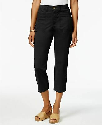 Style Co Slim-Fit Capri Pants Deep Black 8