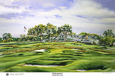 Oakmont Country Club Limited Edition Golf Art Print Signed by artist