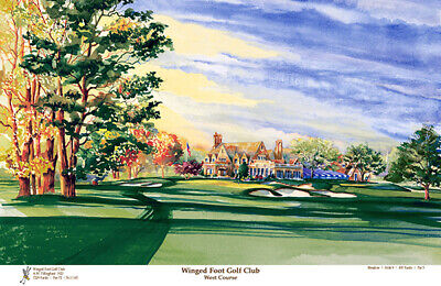 Winged Foot Golf Club US Open Limited Edition Art Print Signed