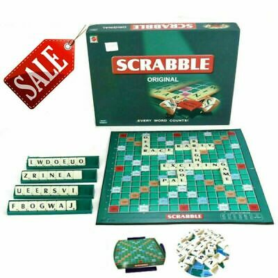 Original Scrabble Board Game Family Kids Adults Educational Toys Puzzle Game AU