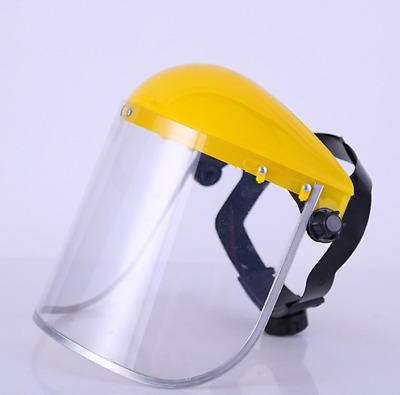 Protective Safety PVC Mask Clear Head-mounted Face Eye Shield Screen Grinding