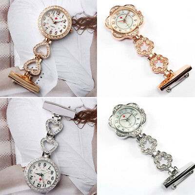 Stainless Steel Nurse Watch Brooch Tunic Fob Watches Pocket Pendant Quartz Watch