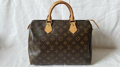 Louis VUITTON AUTHENTIC Monogram SPEEDY 30 Bag Purse Made in France Duffle