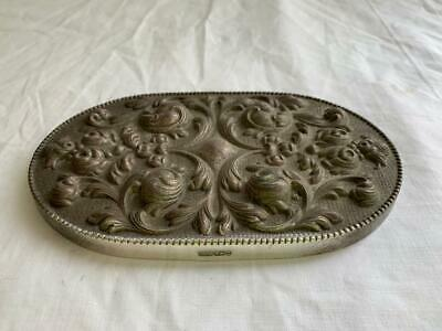 Collectable Vintage Topazio T.g Embossed Floral Lid Cover For Vanity Jar Box