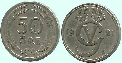 50 Ore 1921 SWEDEN #AC694.2.AW