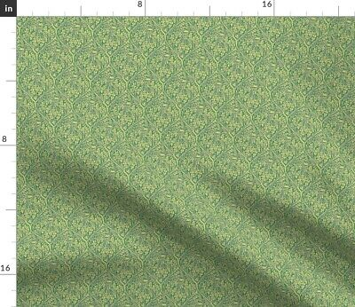 Oak Leaves Canadian Lattice Arts And Crafts Fabric Printed by Spoonflower BTY