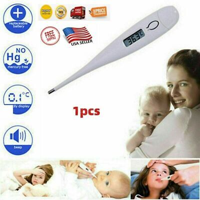 LCD Digital Body Thermometer Baby Kids Adult Human Home Fever Temp Measuring