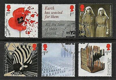 GB Stamps 2017 'Centenary of the First World War' - Fine used