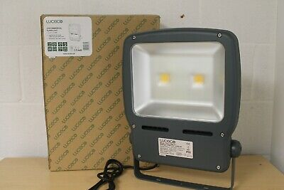 Luceco LED Commercial Floodlight + 2m pre wired rubber insulated cable (EB024)