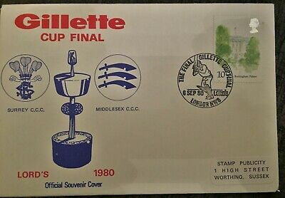Cricket Stamp Covers - Gillette Cup Final 1980