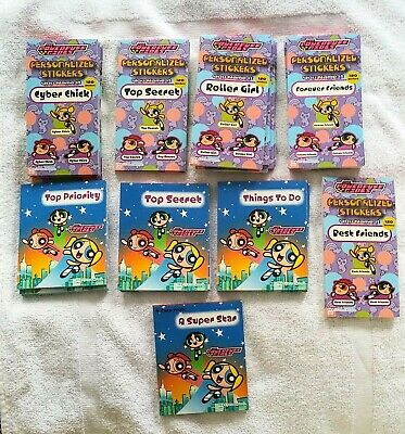 THE POWERPUFF GIRLS LOT Sticker Books and Notepads Great Gifts