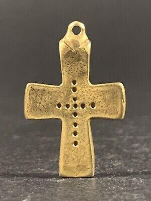 Museum Quality Perfect Byzantine High Kt Solid Gold Decorated Cross Circa 700 Ad