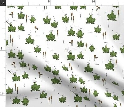 Frog Olive Boys Animal Nature Leggings Fabric Printed by Spoonflower BTY