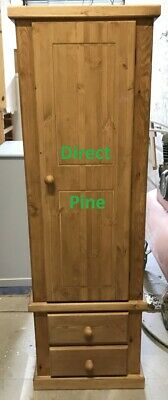 Shaftesbury Range Pine Single 2 Drawer Wardrobe Antique Pine No Flat Packs