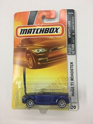 Audi TT Roadster Blue 2008 MATCHBOX SPORTS CARS READY FOR ACTION COLLECTIBLE