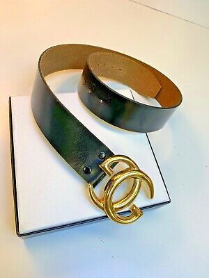 GUCCI Italy~Vintage Large GG Gold tone Logo Belt buckle~Gender Neutral