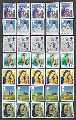100x  Royal-Mail 2nd Class unfranked security stamps with/on Paper