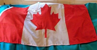 Canadian Flag, Nylon With Cotton Edge And Brass Grommets At 2 Corners