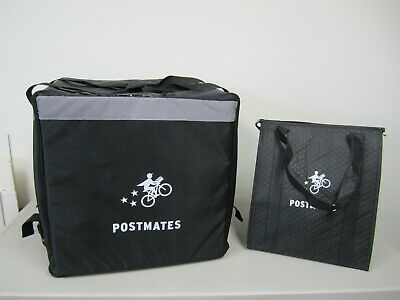 "Postmates ""Commuter"" Insulated Hot/Cold Food & Beverage Carrier + Extra Bag"